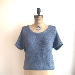 Rag & Bone Blue Crew-neck Knitted Sweater